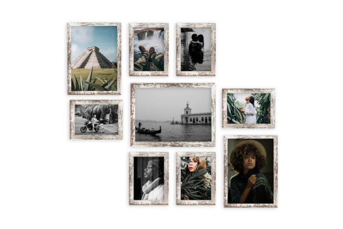 Mulitrama Barcelona fotoramki zestaw na ścianę antyk