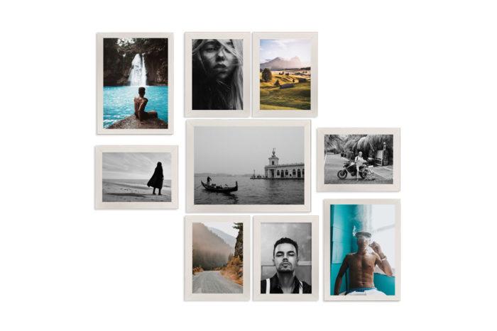 barcelona zestaw ramek fotoramek na ścianę na zdjęcia