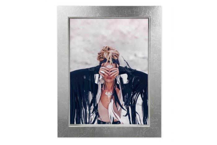 ramka na zdjęcie ze szkłem srebrna srebro fotoramka